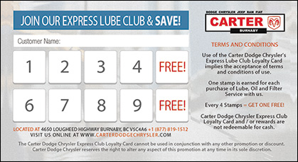 Express Lube Club and Save