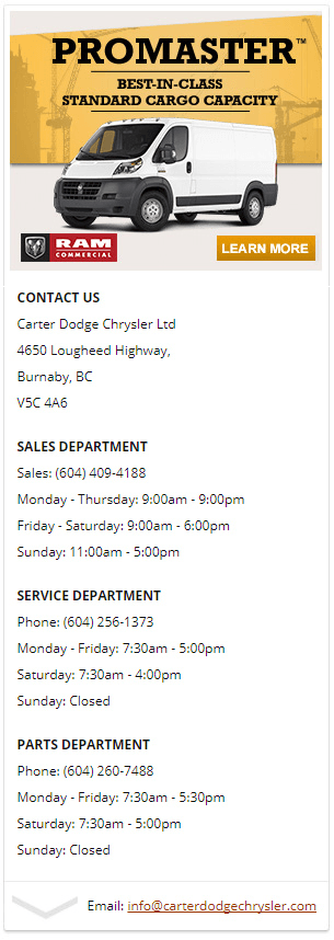 ram promaster carter dodge burnaby
